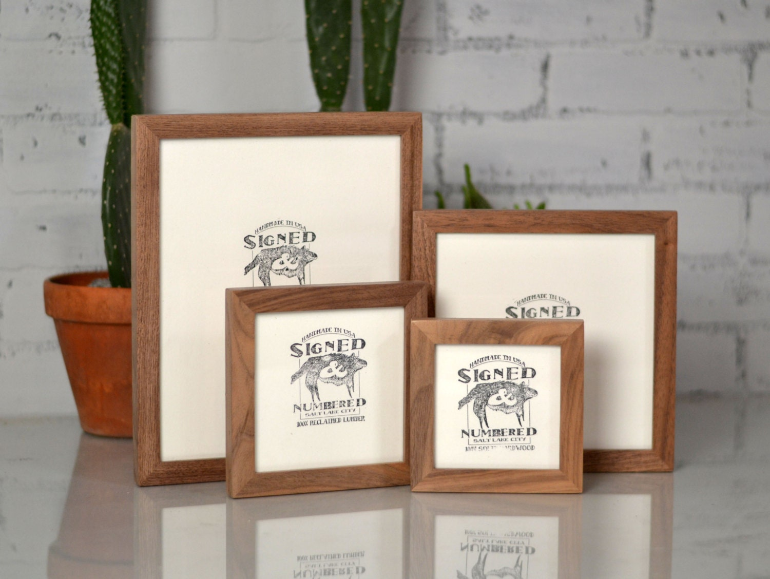 Natural WALNUT Picture Frame in Peewee style - Choose Your