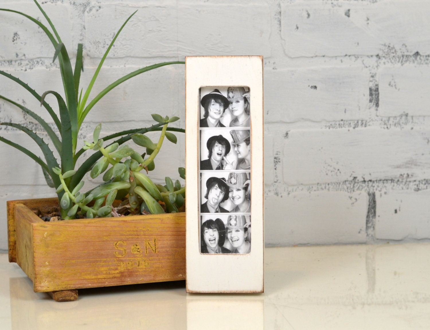 Photo Booth Frame for 2 x 6 Picture Strip in Vintage COLOR of YOUR ...