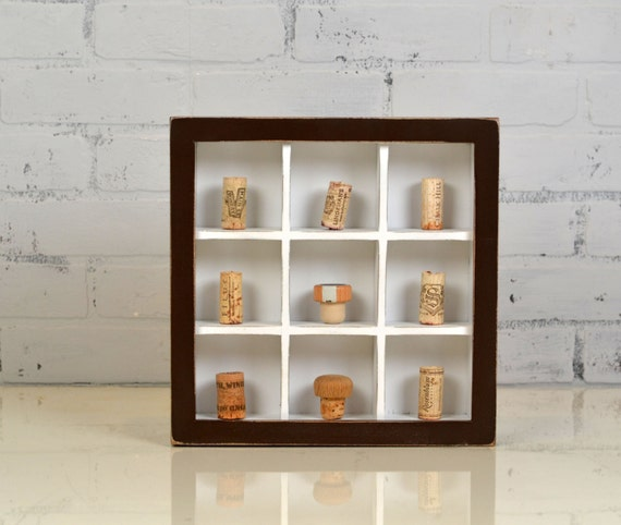 Display Case Shadow Box Frame With 9 Small Compartments Etsy
