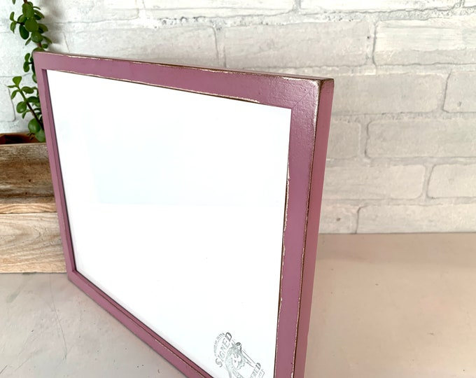 """11x14"""" Picture Frame - SHIPS TODAY - Solid Walnut Peewee Style with Vintage Violet Finish - In Stock - Handmade 11 x 14 Solid Hardwood"""