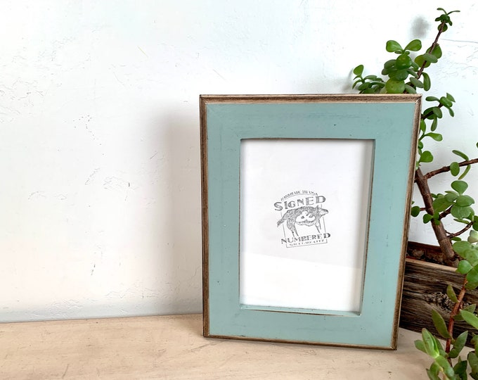 """5x7"""" Picture Frame - SHIPS TODAY - 1.5 2-Tone Style with Vintage Homestead Green Finish - In Stock - 5 x 7 Photo Frame"""