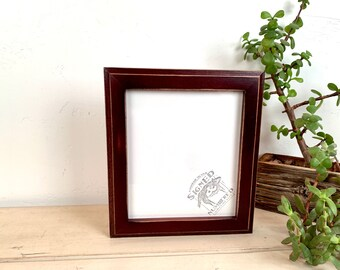 """6x7"""" Picture Frame - SHIPS TODAY - Vintage Mahogany Finish 1x1 Outside Cove Style - In Stock - 6 x 7 Photo Frames on Sale"""