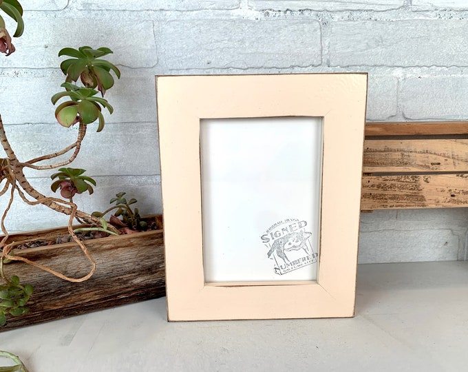 """5x7"""" Picture Frame - SHIPS TODAY - 1.5 Standard Style with Vintage Ivory Finish - In Stock - 5 x 7 inch Photo Frame Off White"""