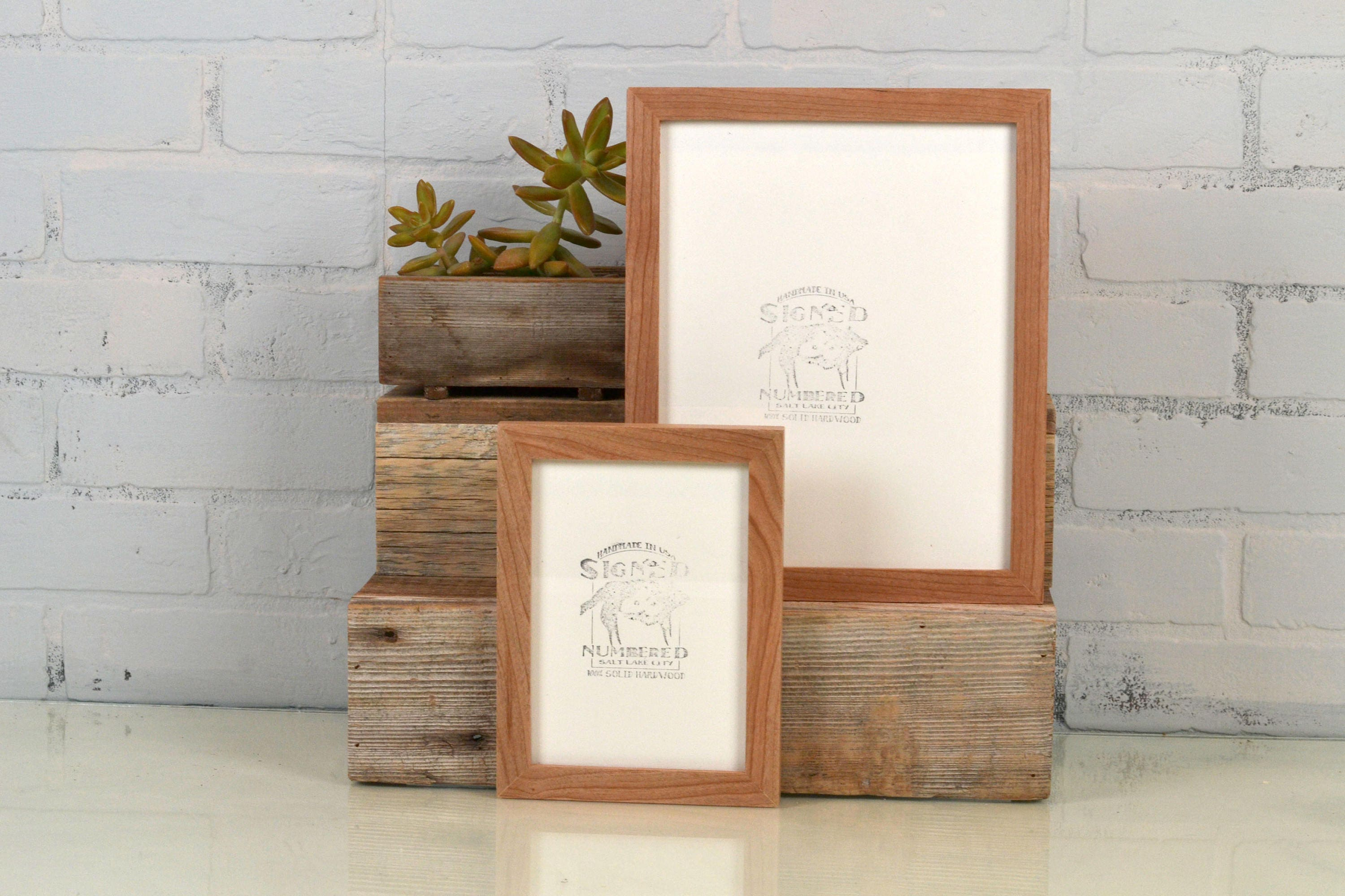 BASIC Picture Frame - Natural CHERRY Solid Hardwood Gallery Wall ...
