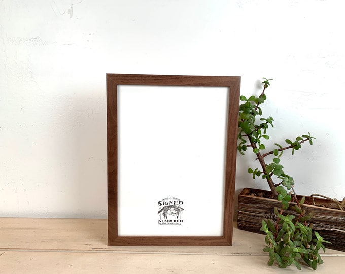 """A4 Size Picture Frame - SHIPS TODAY - Peewee Style on Solid Natural Walnut - In Stock - Frame - 210 x 297 mm - 8.3 x 11.7"""""""