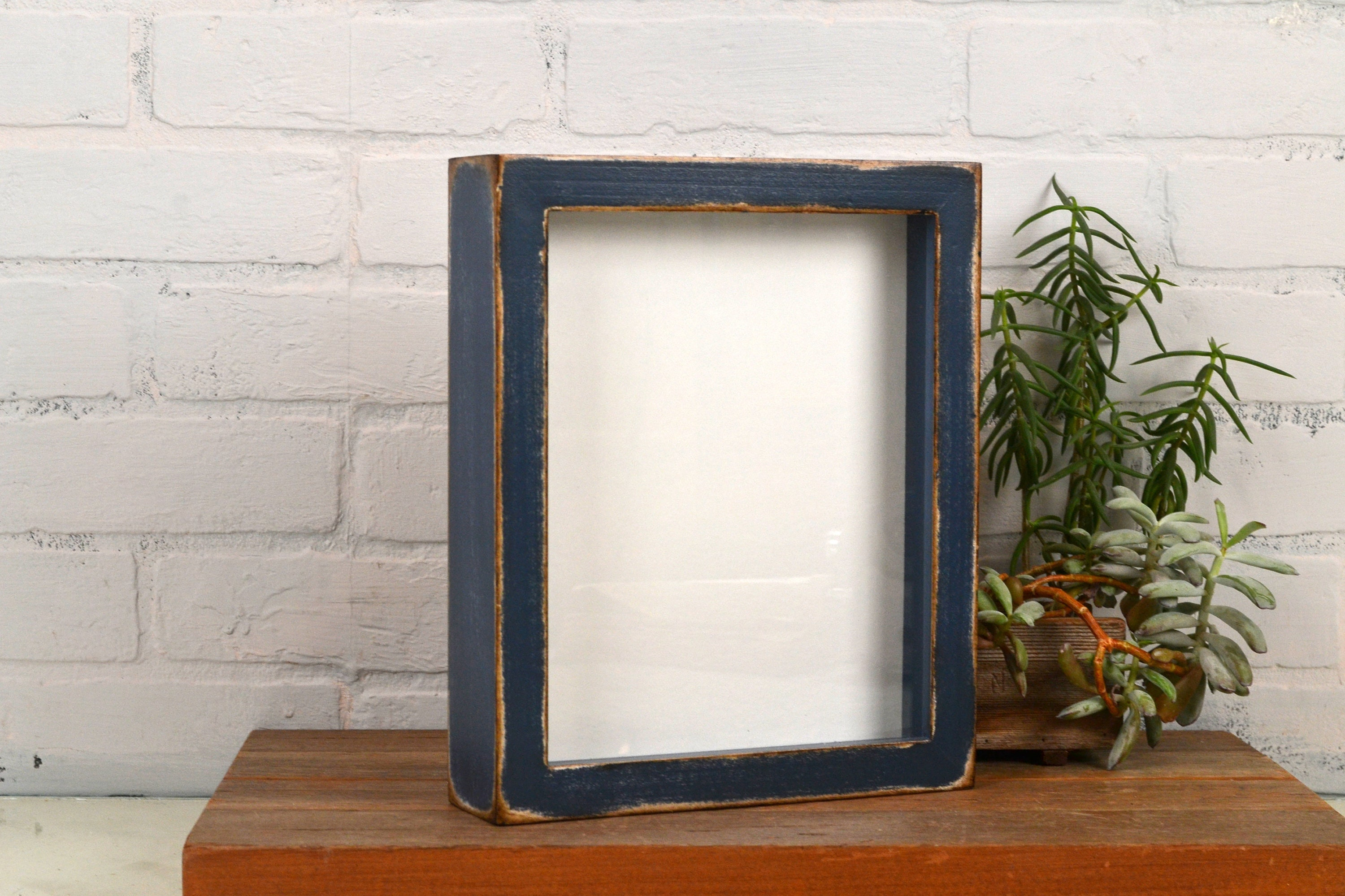 Shadow Box Frame Holds Up To 8 X 10 X 1 Deep With Super Vintage