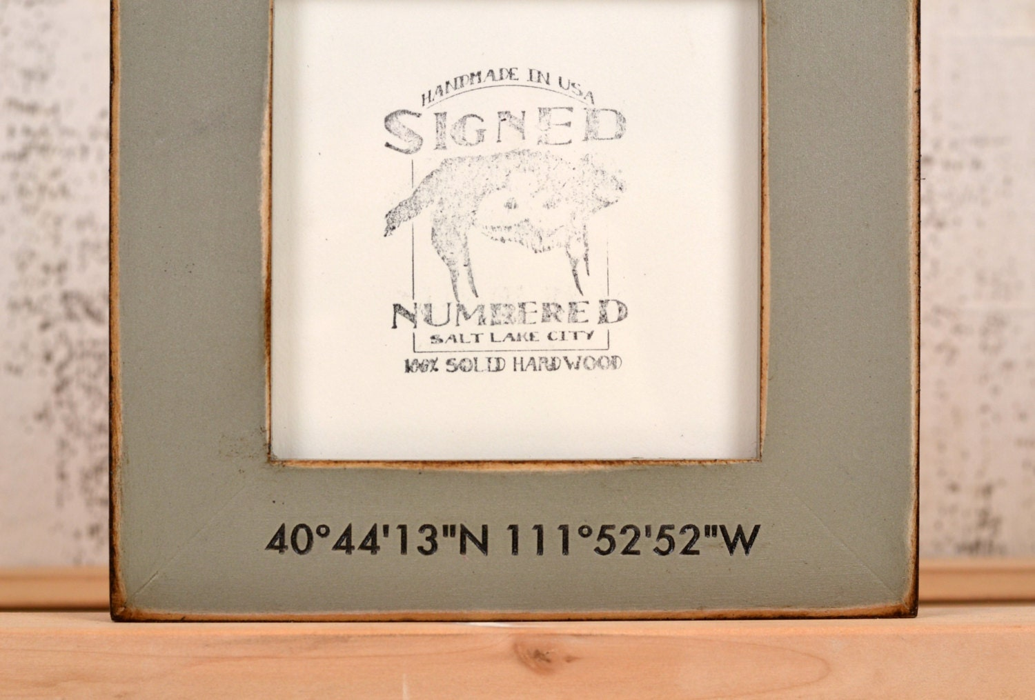 5x5 Coordinates Frame Custom Engraved in Finish COLOR of YOUR CHOICE ...
