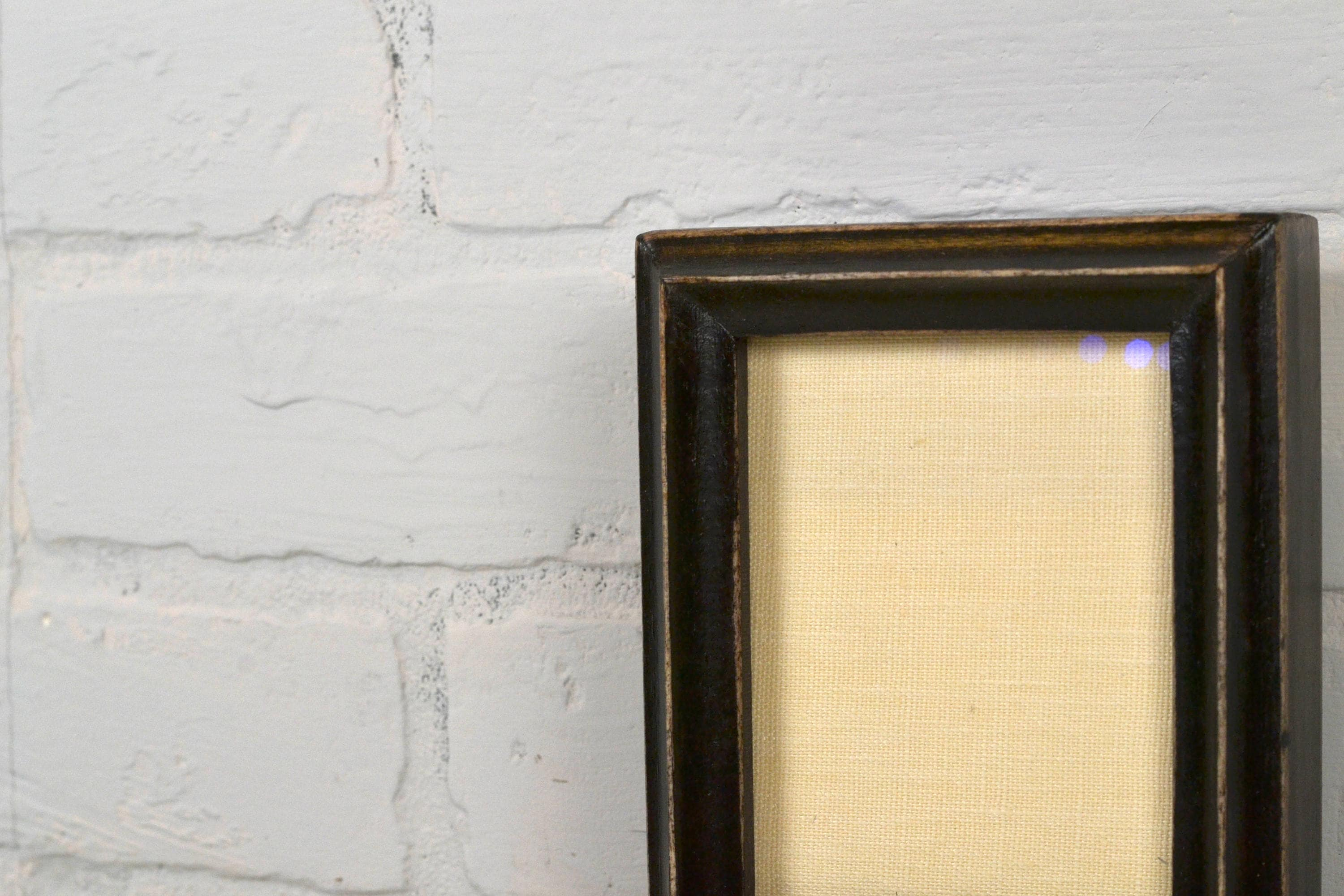 35x45 Aceo Wallet Size Picture Frame With Vintage Black Finish In