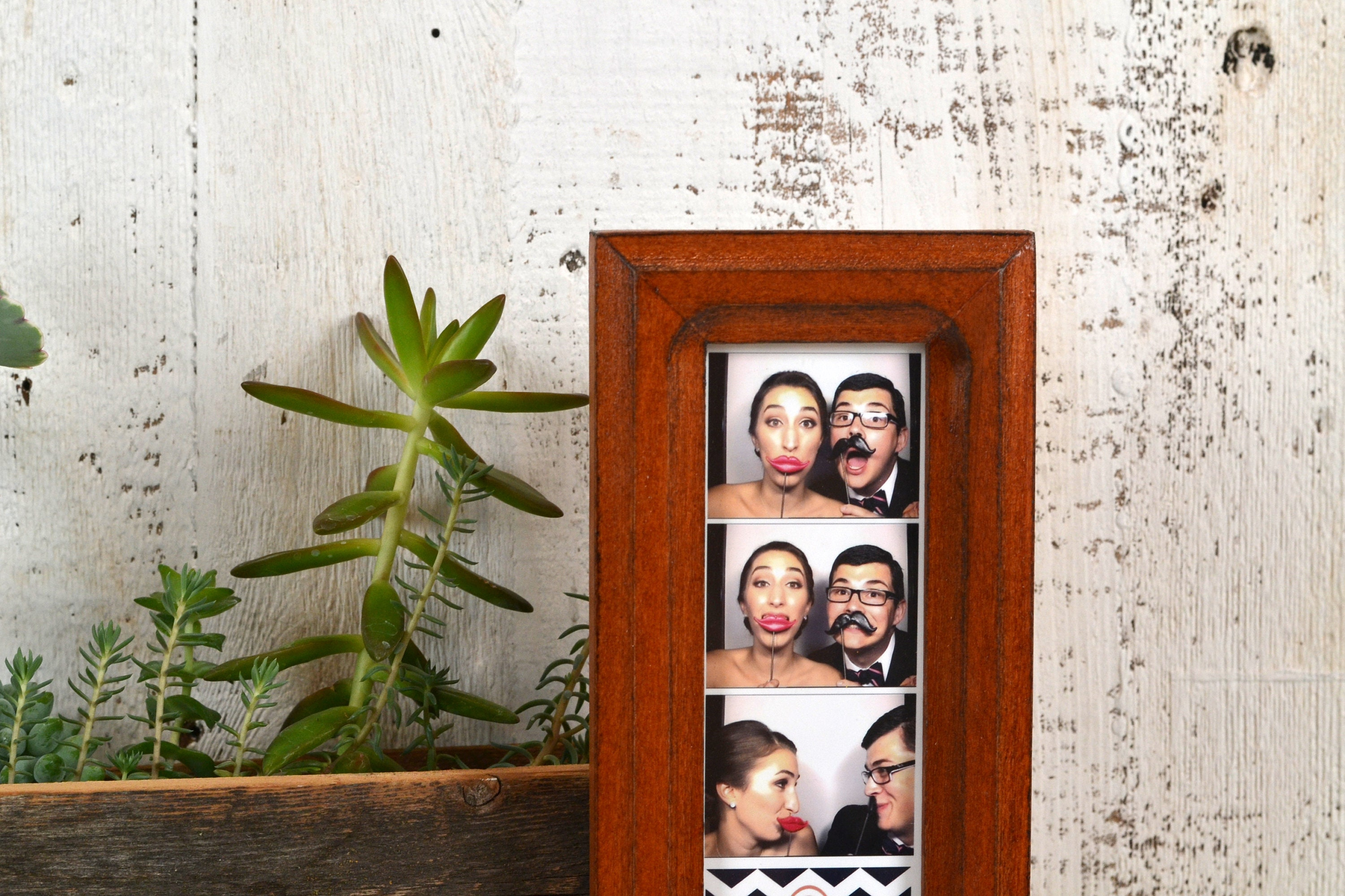 Photo Booth Frame For 2 X 6 Picture Strip In Double Cove Style With