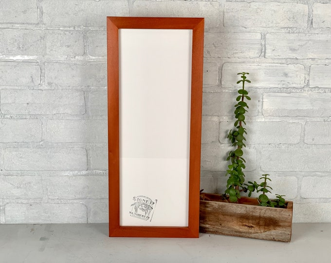 """6.5x17.75"""" Picture Frame - SHIPS TODAY - 1x1 Flat Style with Vintage Black Finish - In Stock - 6.5 x 17.75"""" Panoramic Photo Frame"""
