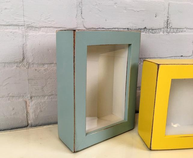 Marco de caja de sombra pequeña hecha a mano tiene hasta 4 x | Etsy