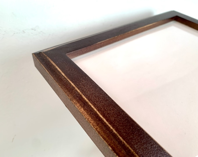 """Vintage Color of Your Choice in 1x1 Outside Cove Style Choose your frame size 2x2 up to 18x24 / 20x20 inches - A4 or 8.5x11"""" frame Handmade"""