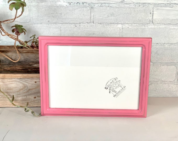 8x11 Picture Frame - SHIPS TODAY - 1x1 Double Cove style with Vintage Pink Finish - In Stock - 11 x 8 inch Frames - Rustic Pink