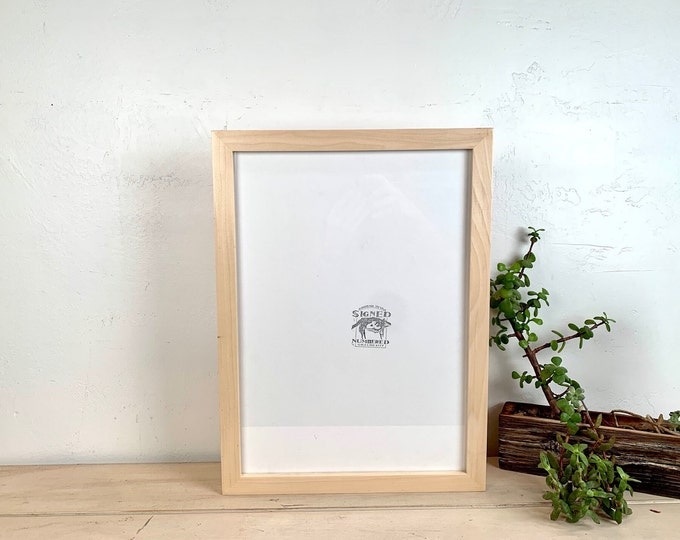 A3 Size Picture Frame - SHIPS TODAY - 1x1 Flat Style with Solid Natural Poplar Finish - 297 x 420 mm - 11.7 x 16.5 inches