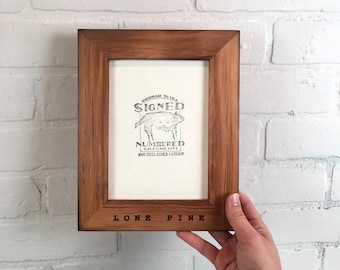 Personalized Frames - Choose Your Size and Message - Reclaimed Cedar in Various Colors - Sizes 2x2 up to 8x10 inches- Vertical or Horizontal