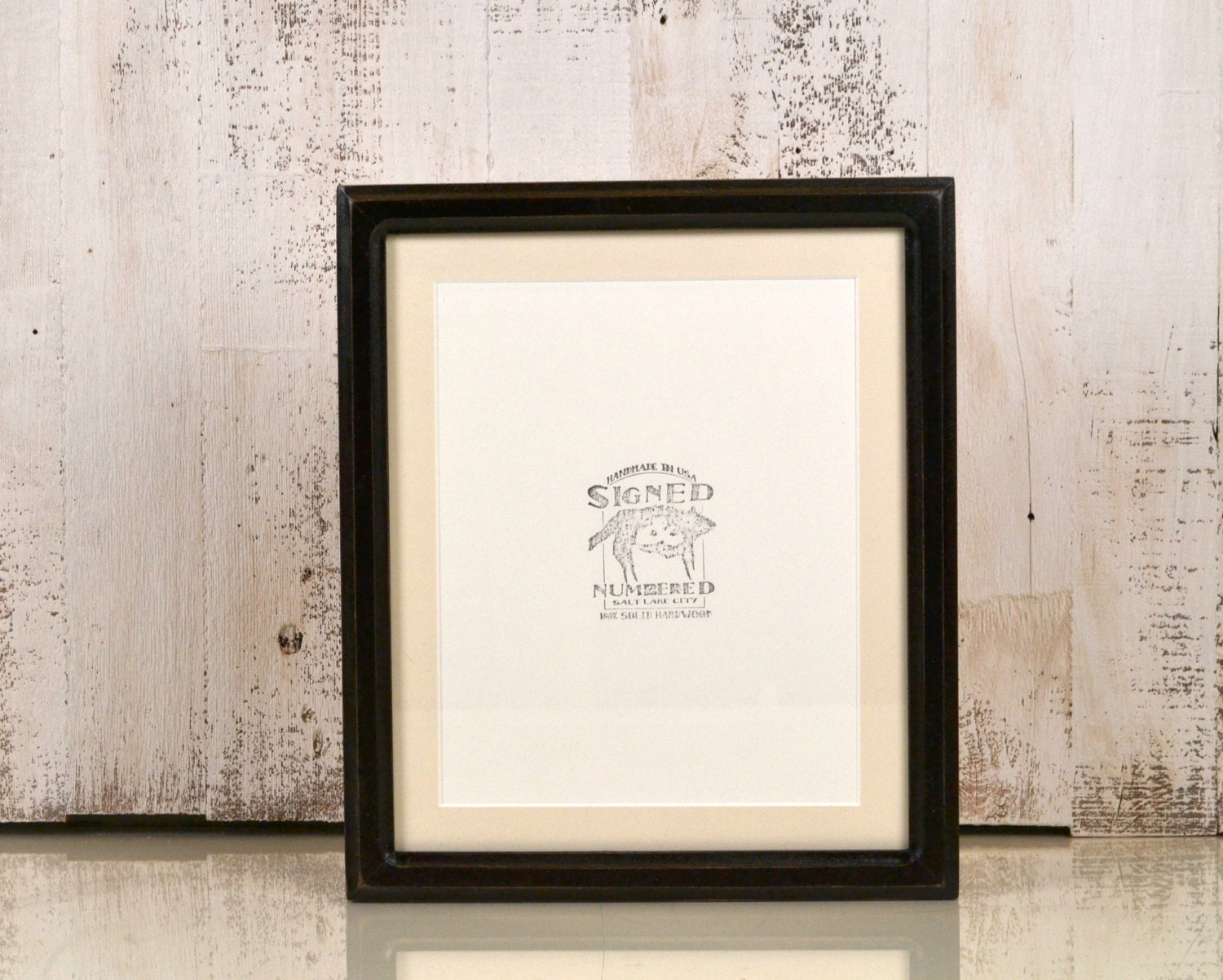 10x12 Picture Frame In Double Cove Style Vintage Black