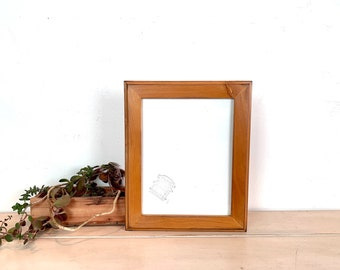 8.5 x 11 Picture Frame - SHIPS TODAY - 1.5 Outside Cove Style with Vintage Honey Dye on Alder Finish - In Stock - 8.5x11 inch Picture Frame