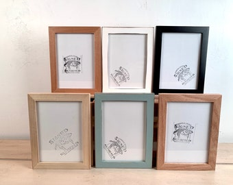 """5x7"""" Picture Frame - BEST SELLERS - Peewee Style - Choose Your Color - 5 x 7 Solid Hardwood - Ships Right Away - 5x7 Photo Frame"""