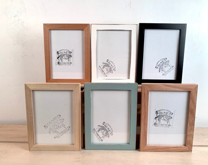 """5x7"""" Picture Frame - BEST SELLERS - Peewee Style - Choose Your Color - 5 x 7 Solid Hardwood- Ships ASAP - Frames On Sale"""