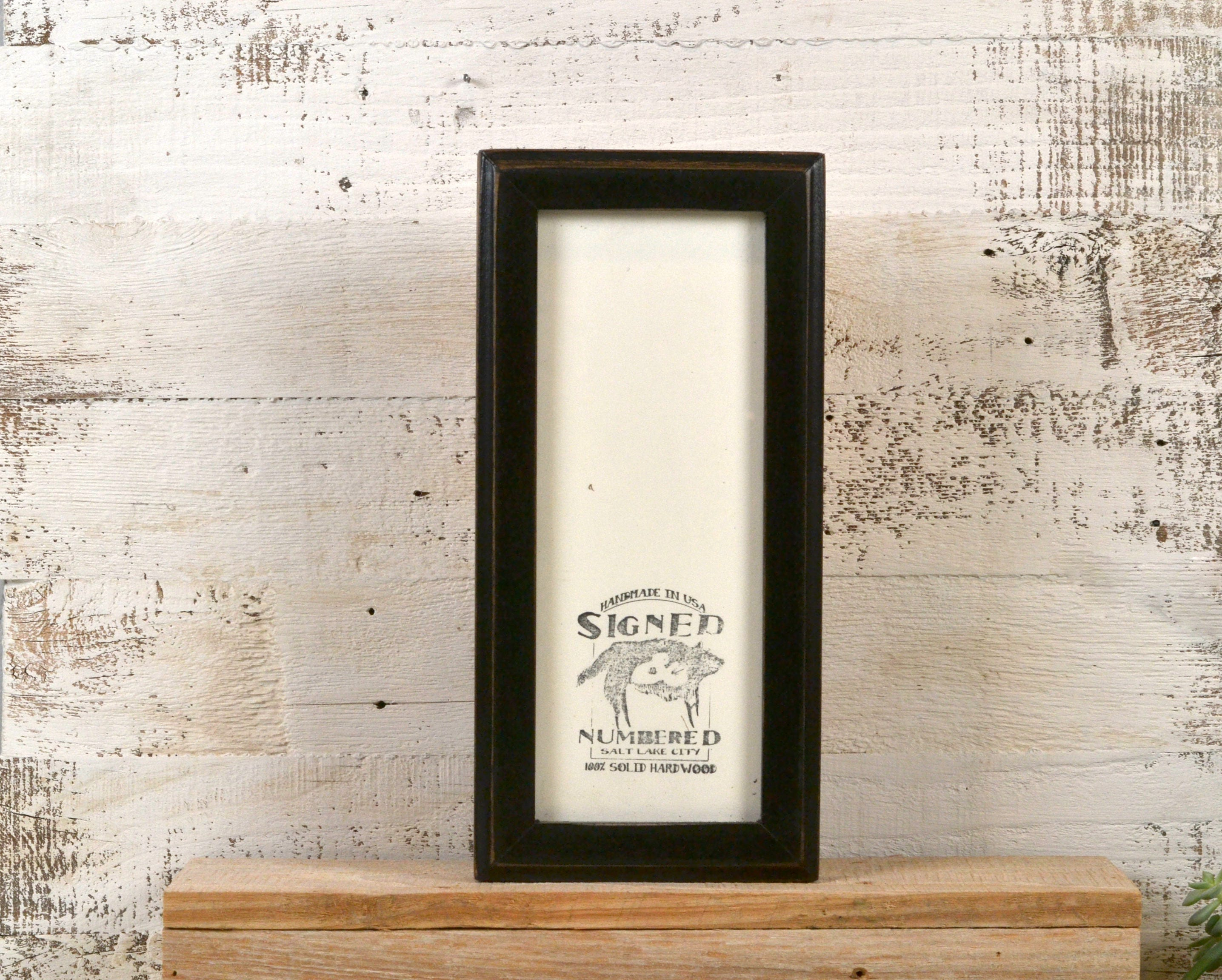4x10 Picture Frame in 1x1 Outside Cove Style with Vintage Black ...