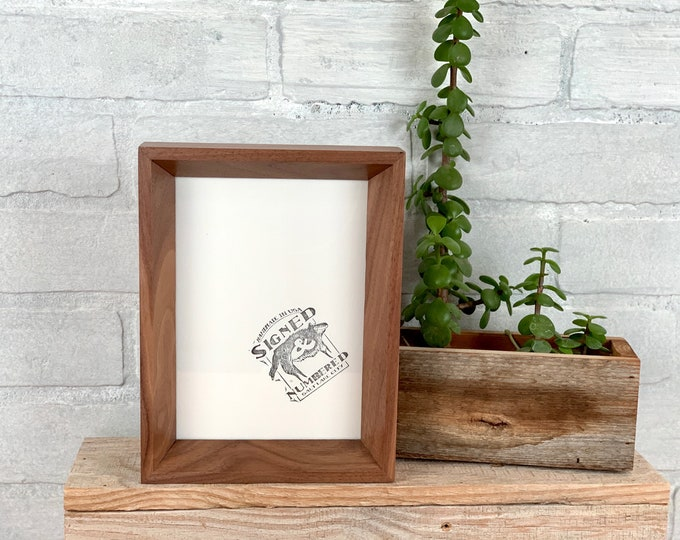 """5x7"""" Picture Frame - SHIPS TODAY - Park Slope Style with Solid Natural Walnut Finish - In Stock - 5 x 7 Photo Frame"""