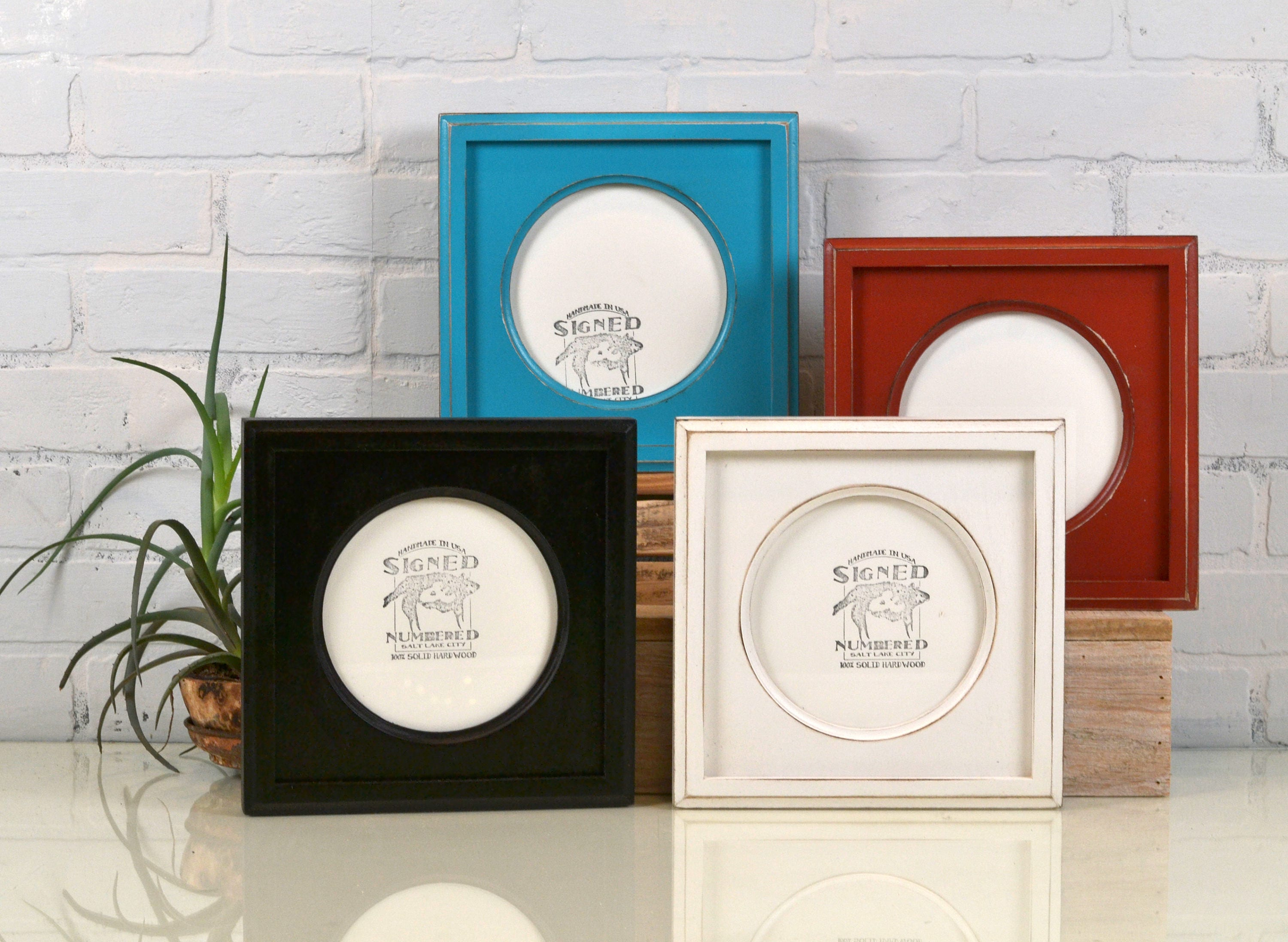 6x6 Picture Frame With Circle Opening For Square Photo Can Be Any