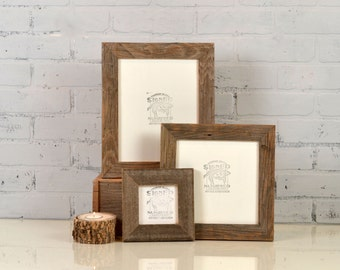Rustic Natural Reclaimed Cedar Wood Picture Frame - Choose Your Size: 2x2 up to 16x20 inches - Handmade Upcycled Photo Frame