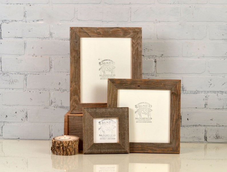 Rustic Natural Reclaimed Cedar Wood Picture Frame  Choose image 0