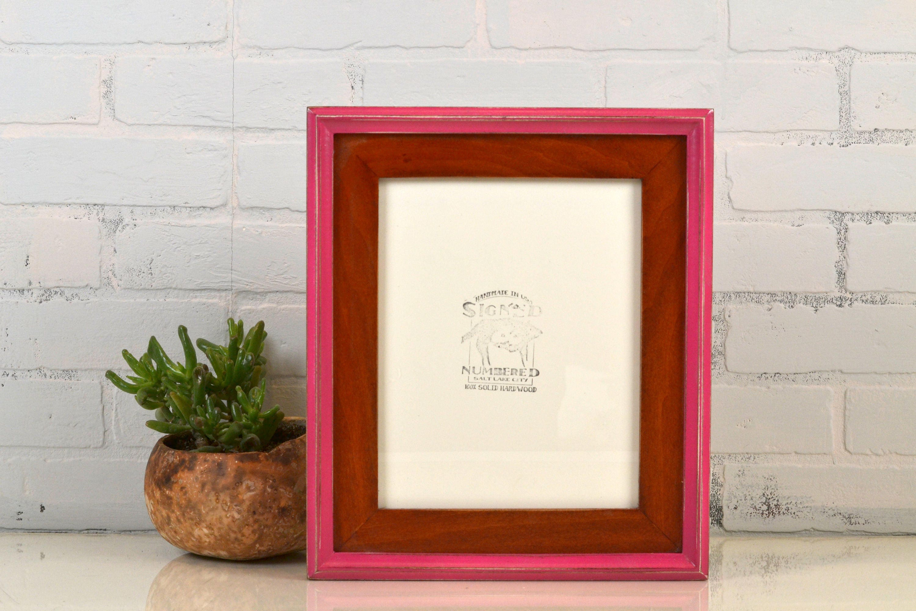 8x10 Picture Frame in Build Up Style with Vintage Wood Tone and ...