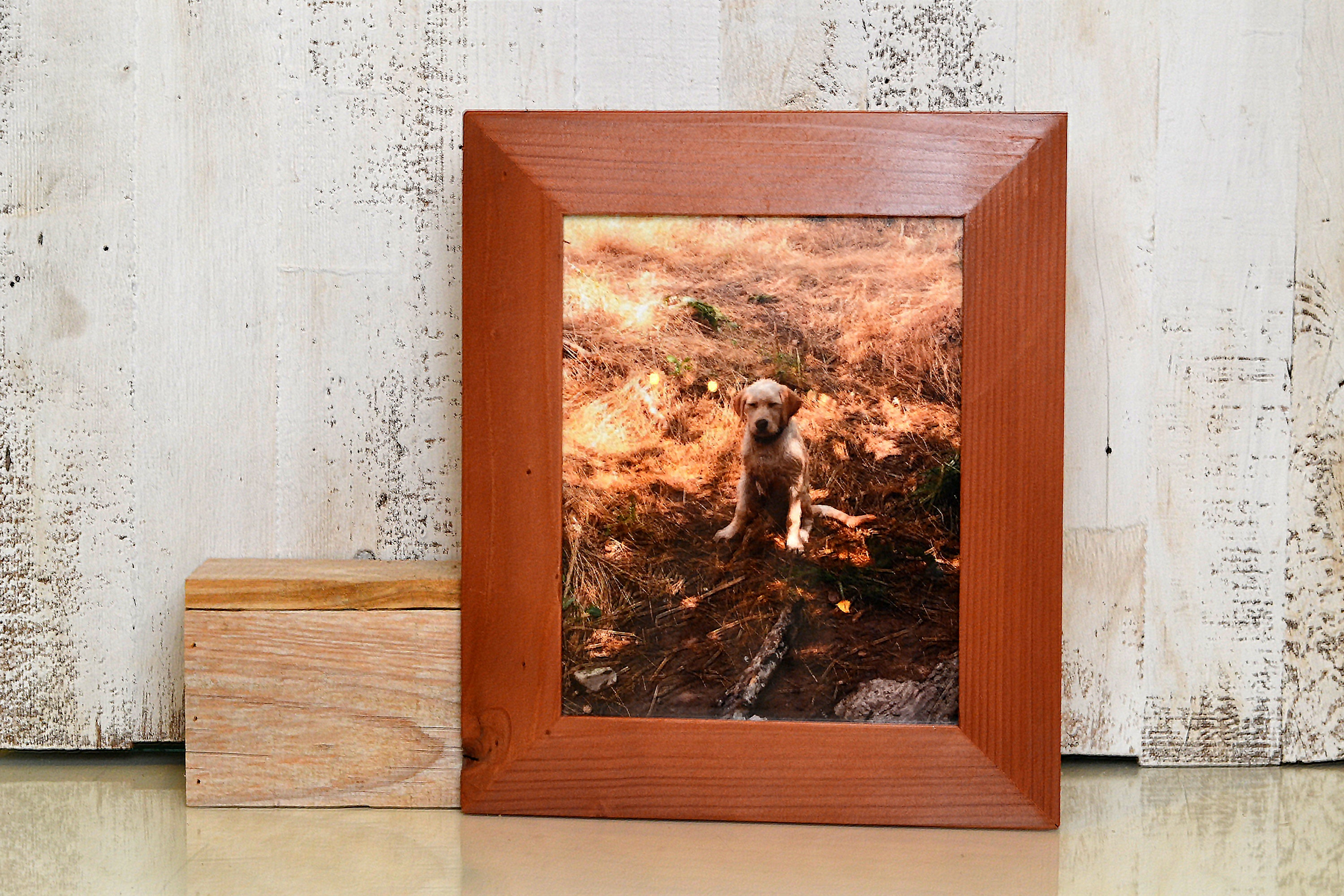 8x10 Picture Frame in Reclaimed Redwood Easy Street Style with ...