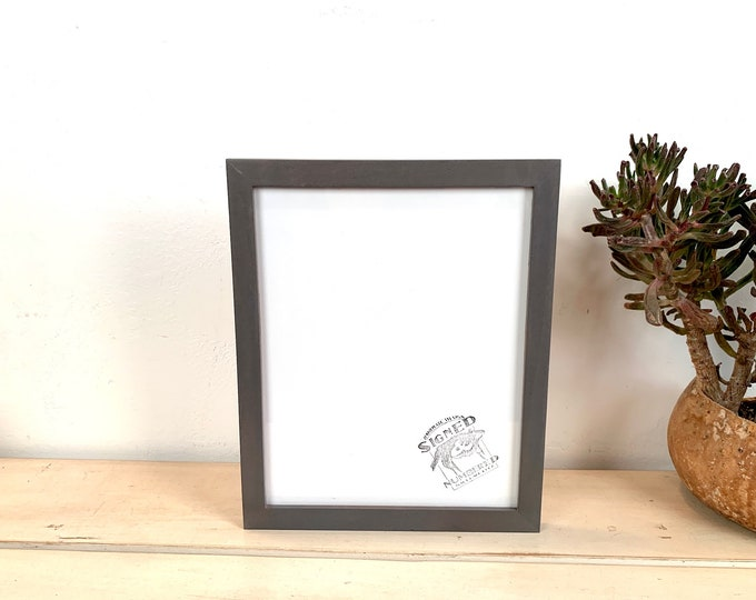 8x10 Picture Frame - SHIPS TODAY - Peewee Style on Alder with Gray Wash Finish - In Stock - 8x10 Photo Frame Solid Hardwood