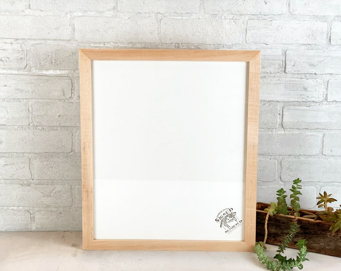 """14x16.5"""" Picture Frame - SHIPS TODAY - 1x1 Outside Cove Style with Vintage White Finish 14 x 16.5 Frame - includes plexiglass - In Stock"""