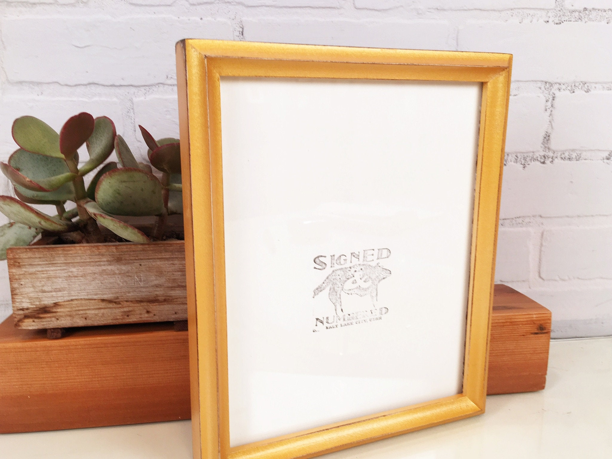 8x10 Picture Frame in Better Deep Double Cove Style with Vintage ...