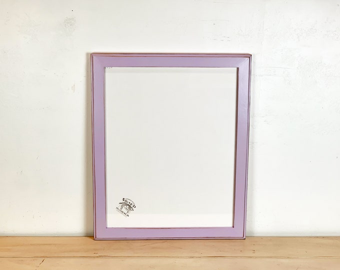 """15.75x19.75"""" Picture Frame in 1.5 Outside Cove Style with Vintage Lilac Purple Finish - IN STOCK - Same Day Shipping - 15.75 x 19.75"""" Frame"""