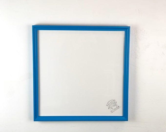 """16x16"""" Square Picture Frame - SHIPS TODAY - Foxy Cove Style with Solid Cobalt Blue Finish - In Stock - 16 x 16 Photo Frame with Plexiglass"""
