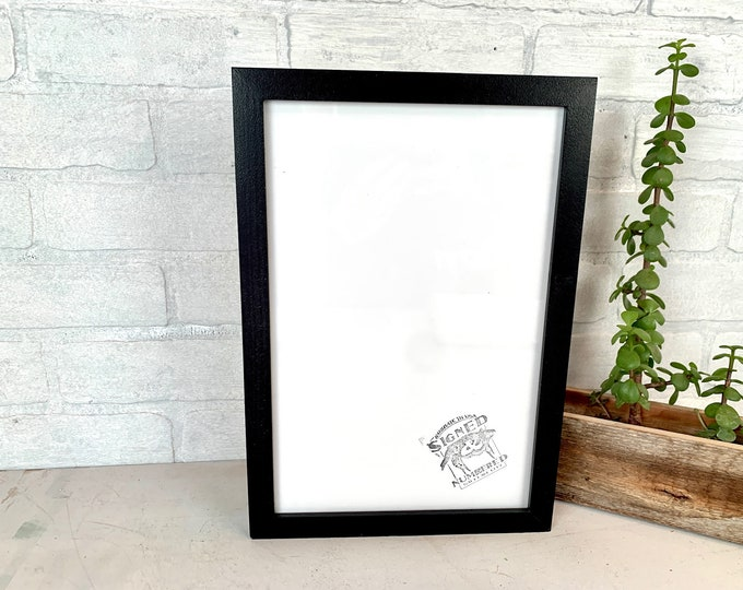 8x12 Picture Frame - SHIPS TODAY - Peewee Style with Solid Black Finish - In Stock - Handmade Classic 8 x 12 Wooden Frame