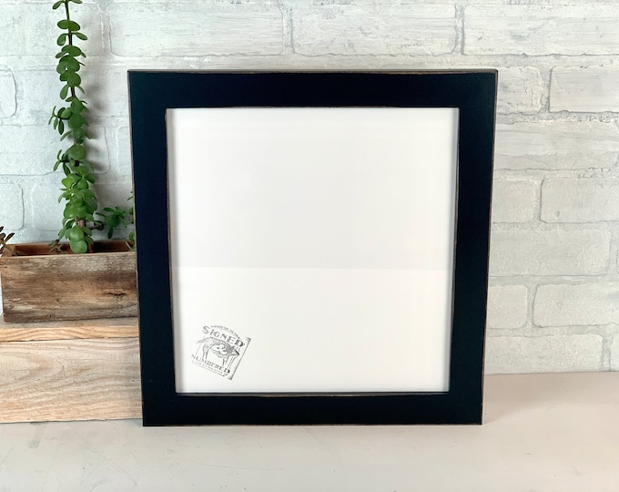 """12.5x13"""" Picture Frame - SHIPS TODAY - 1.5 Standard Style with Vintage Black Finish - In Stock - 12.5 x 13 inch Odd Size Frame"""