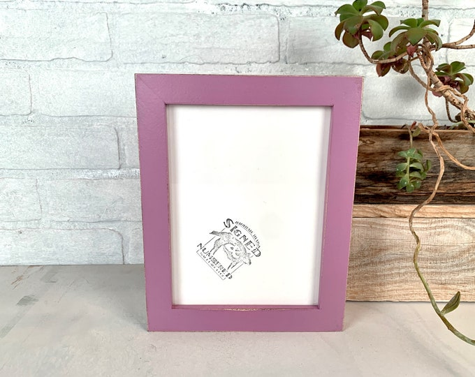 """6x8"""" Picture Frame - SHIPS TODAY - 1x1 Flat Style with Vintage Violet Finish - In Stock - 6 x 8 Picture Frames Purple"""