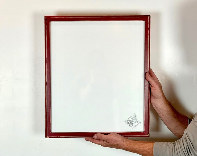 """16.25x19.25"""" Picture Frame - SHIPS TODAY - 1x1 Outside Cove Style with Super Vintage Wine Finish - In Stock - 16.25 x 19.25 inch Photo Frame"""