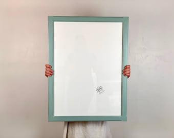 Large Size Poster Frame - Super Vintage Color of Your Choice in 1.5 Wide Bones Style - Choose your frame size 18x24 up to 32x40 inches