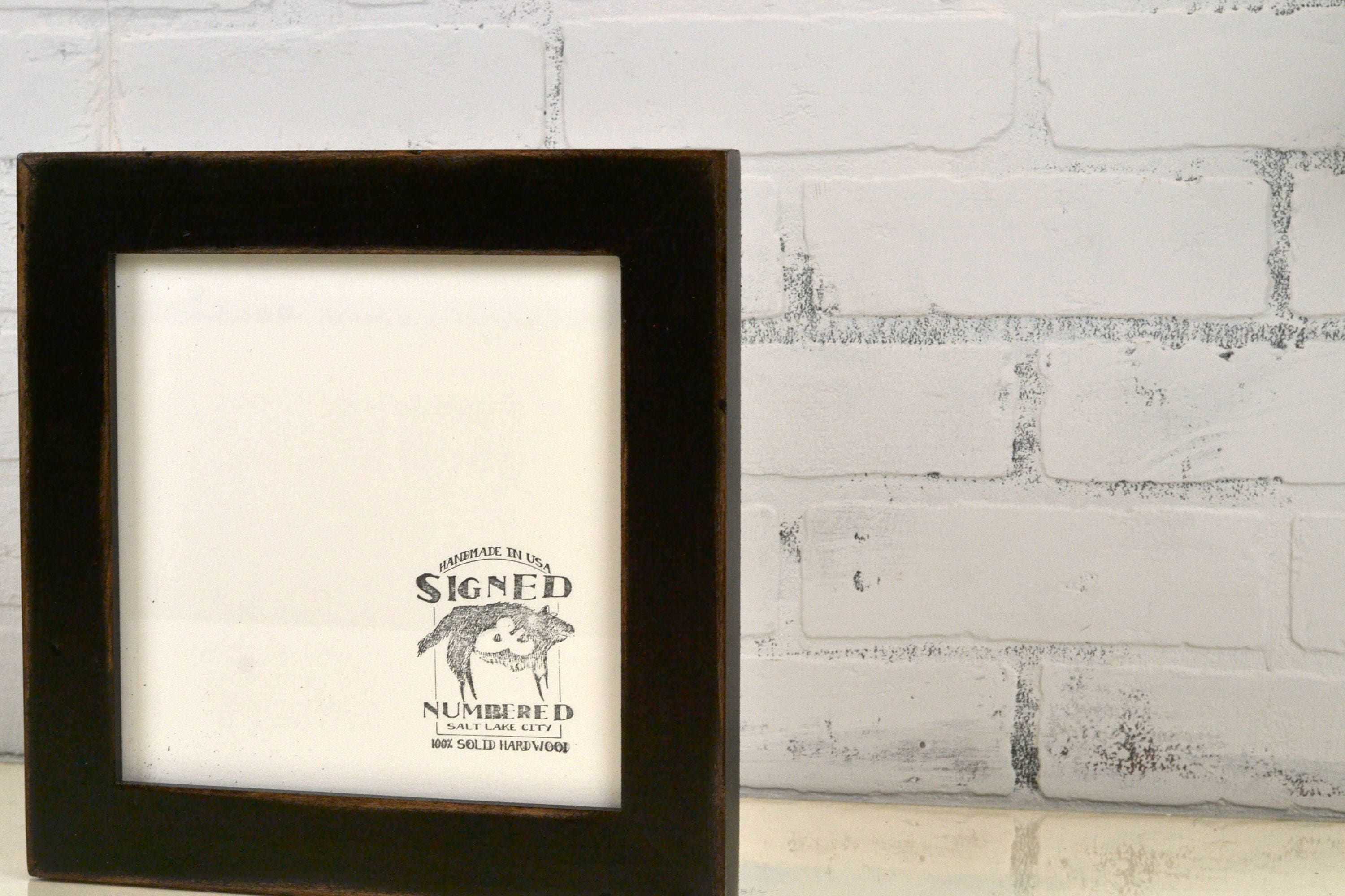 8x8 Square Picture Frame in 1.5 Standard Style with Super Vintage ...