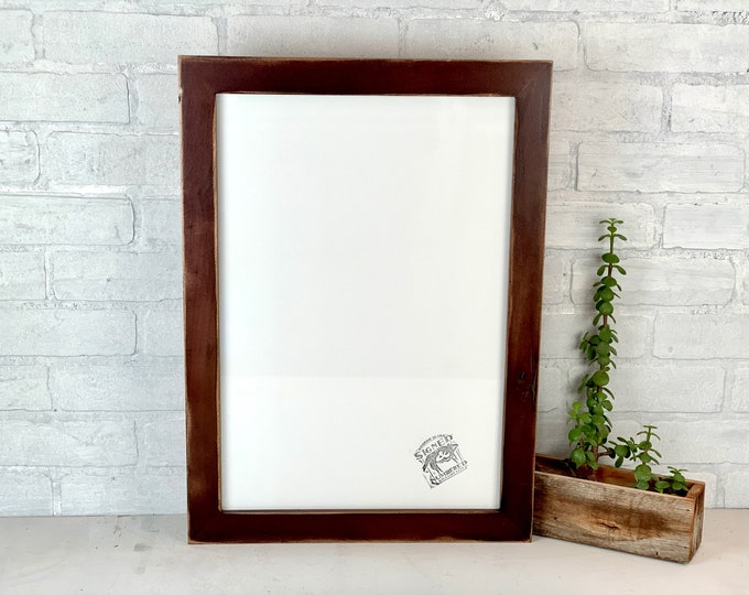 """13x19"""" Picture Frame - SHIPS TODAY - 1.5 Standard Style with Super Vintage Dark Wood Tone Finish - In Stock - 13 x 19 Frame Brown"""