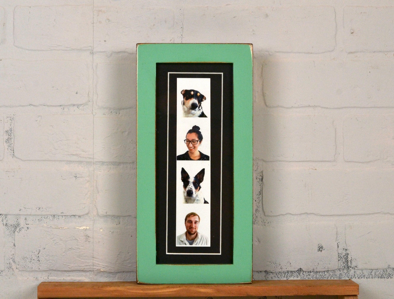 4 x 10 Bilderrahmen für Foto-Stand-Streifen in 1 x 1