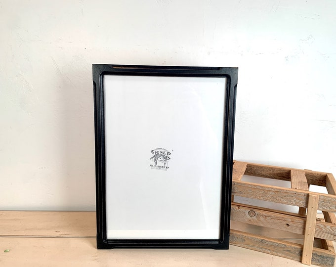 """11.5 x 16.5"""" Picture Frame in 1x1 Bones Style with Vintage Black Finish - IN STOCK Same Day Shipping - odd sized frame  11.5x16.5"""