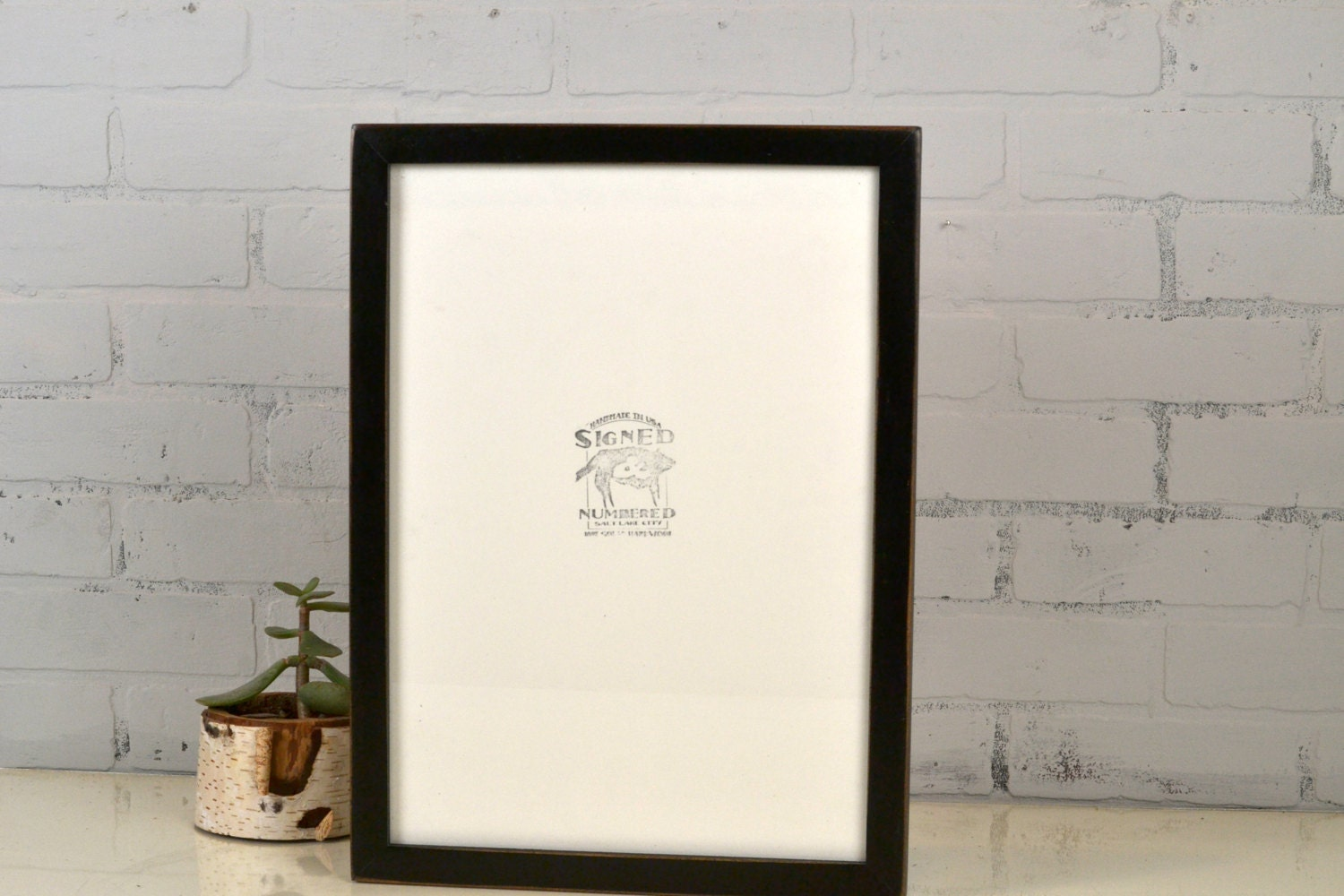 A3 Size Picture Frame in 1x1 Flat Style with Vintage Black ...