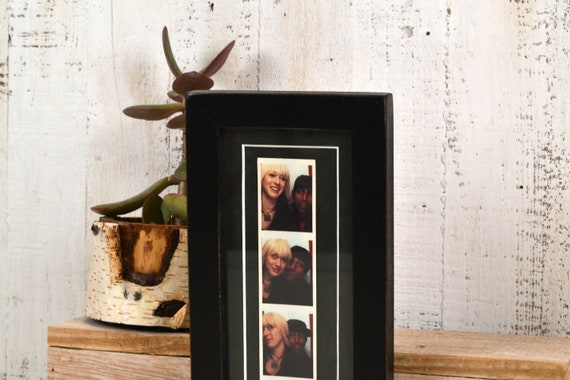 4x10 Picture Frame In 1x1 Flat Style With Vintage Black Etsy