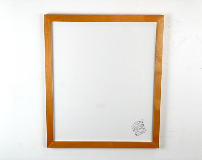 """16x19"""" Picture Frame - SHIPS TODAY - 1x1 Flat Style with Solid Honey Dye on Alder Finish - In Stock - 16 x 19 inch Poster Photo Frame"""