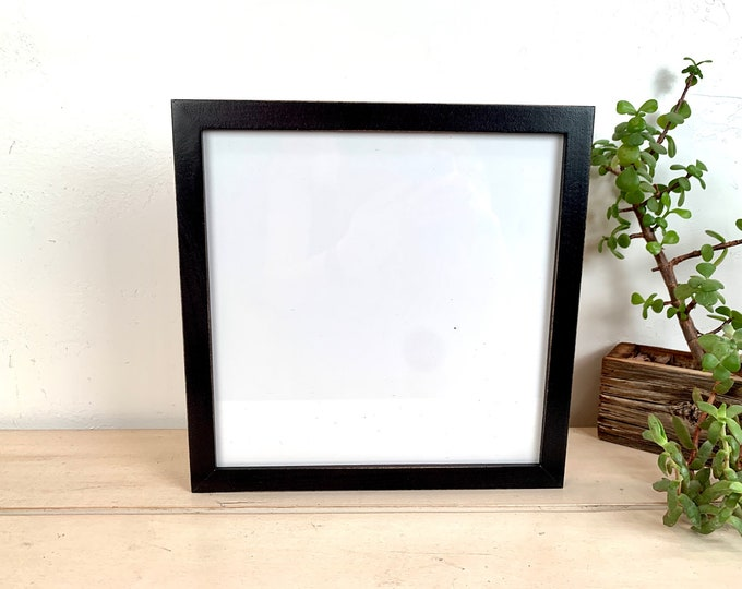"""10x10"""" Picture Frame - SHIPS TODAY - Peewee Style with Vintage Black Finish - In Stock - 10x10 inch Handmade Frame Gallery Black"""
