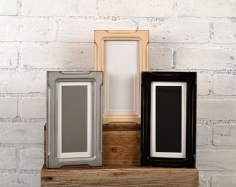 """4x8 Picture Frame for 2x6"""" Photo Booth Strip in Shallow Bones and Color OF YOUR CHOICE - Photo Booth Frame - 2x6 Wooden Picture Frame"""