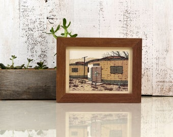 """5x7"""" Picture Frame in 1x1 Flat Style with Natural WALNUT Finish - IN STOCK - Same Day Shipping - Gallery Frame 5 x 7 Solid Hardwood"""